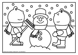 Kleurplaat Frokkie Lola Sneeuwpop Kleurplaten Sneeuwpop En