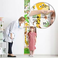 Kids Growth Height Chart Cartoon Ruler Children Room Decor Wall Hanging Measure Wall Decals Stickers Home Furniture Diy Plastpath Com Br