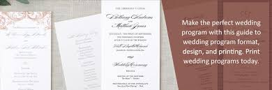 how to make the perfect wedding program