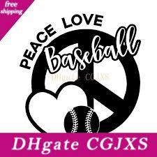 2020 15 13 6cm Peace Love Baseball Vinyl Decal Sticker Peace Sign Heart Car Accessories Motorcycle Helmet Car Styling From Egbdhydnn 7 11 Dhgate Com