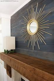 diy sunburst mirror bookcase built