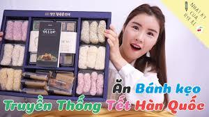 Ăn Bánh kẹo Truyền Thống Tết Hàn Quốc - YouTube