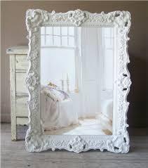 white mirror large shabby por