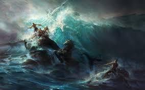 Fondos de pantalla : pintura, Arte fantasía, Obra de arte, submarino, mitología, Poseidón, barco fantasma, ola, oscuridad, captura de pantalla, 1680x1050 px, Papel pintado de la computadora, personaje de ficción 1680x1050 - -