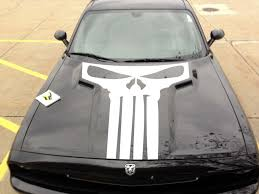 Product 2015 2016 2017 Dodge Challenger Punisher Hood Decal Stripe Blackout