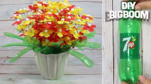 flower pot with plastic bottle