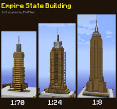 Empire State Building In 3 Scales Minecraft