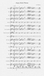 Sheet Music Angry Birds Theme (Balkan Blast Remix) Piano, sheet music,  angle, text, bird png
