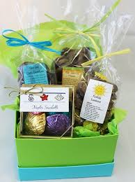 chocolate gift baskets with a