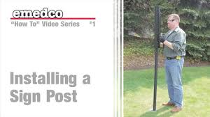 How To Install A U Channel Sign Post Emedco Video Youtube