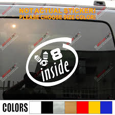 V8 Inside Funny Car Vinyl Decal Sticker Fit For Ford Cadillac Chevrolet Bmw Benz Jdm Euro Choose Size And Color Vinyl Decals Stickers Decal Stickerfunny Car Aliexpress