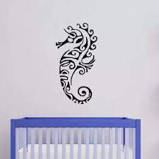 Wall Stickers Deco Sea Horse Wall Decal Kid Wall Decal Bedroom Ocean Wall Decor Wall Decor Horse Wall Decalskids Wall Decals Aliexpress