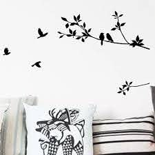 New Cute Tree Birds Wall Sticker For Kids Bady Rooms Black Birds On Tree Branch Tree Sticker Home Decor Living Room Wall Decals Wall Stickers For Kids Bird Wall Stickerwall Sticker Aliexpress