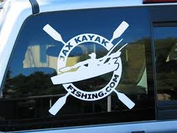 Jax Kayak Fishing Round Die Cut Style Decal