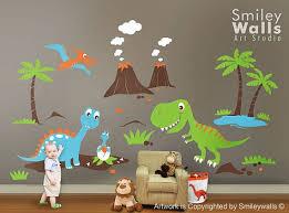 Dinosaurs Wall Decal Dino Dinosaurs Land Huge Set Baby Nursery Kids Playroom Vinyl Wall Decal Sticker Decor Dinosaurs Wall Sticker In 2020 Dinosaur Nursery Dinosaur Wall Decals Kids Wall Decals