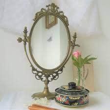 vintage brass vanity mirror mr g
