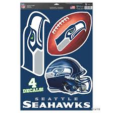 Nfl Seattle Seahawks Window Decals Oriental Trading