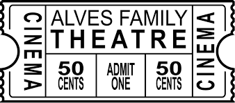 Personalized Family Theatre Ticket Cinema Decal Tenstickers