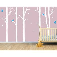 Birch Tree Wall Decal Aspen Tree Bird Decals For Baby Nursery Or Kid S Room Amazon Com Birch Tree Wall Decal Tree Wall Decal Tree Decals