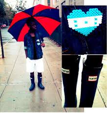 Roberto Johnson - Hunter Rain Boots, Gap Jean Jacket, Urban ...