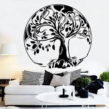 Abstract Large Tree Decal Oak Tree Of Life Acorn Stickers Vinyl Wall Decal For Home Decor Art Murals Bedroom Living Room Removable Wall Art Decals Removable Wall Art Stickers From Onlinegame 12 66