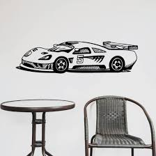Detailed Endurance Side View Race Car Decal