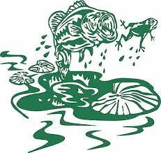 Fish Frog Lily Pad Bass Car Boat Truck Laptop Window Vinyl Decal Sticker Ebay