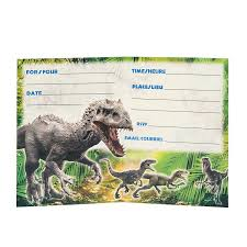 Jurassic World Party Invitations 8ct Amazon In Toys Games