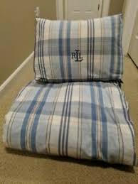 ralph lauren twin comforter and bed