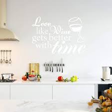Vwaq Love Like Wine Gets Better With Time Sticker Vinyl Wall Decal Home Decor Walmart Com Walmart Com