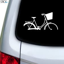 Basket Bike Decal For Car Window Stickany