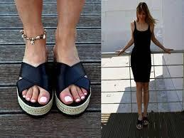 espadrille platform sandals black