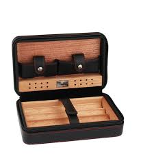 cigar humidor case portable cedar wood