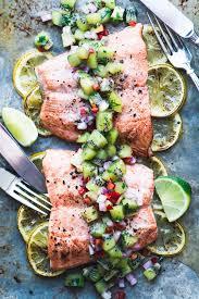 grilled!) Salmon with Kiwi Salsa ...