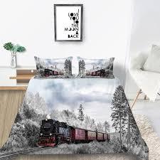 winter train bedding set king size