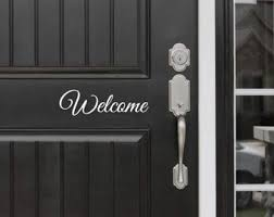 Welcome Y All Decal Front Door Entryway Or Wall Vinyl Etsy