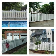 Weatherables Richmond 4 Ft H X 6 Ft W White Vinyl Picket Fence Panel Kit Pwpi 3nrsc 4x6 The Home Depot