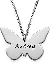 erfly name necklace personalized