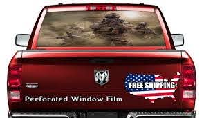 Soldiers Car Window Wrap Decal War Zone Combat Car Decal Etsy