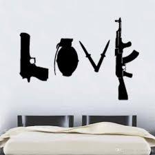 Banksy Love Weapons Wall Sticker Art Graffitti Street Vinyl Wall Decal Home Decor Vinyl Decals Wall Vinyl Decals Walls From Joystickers 14 02 Dhgate Com