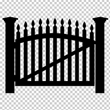 Gate Fence Png Clipart Black And White Clip Art Door Drawing Fence Free Png Download