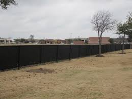 Black Chain Link Fence Windscreen Dallas By Texas Best Fence Patio