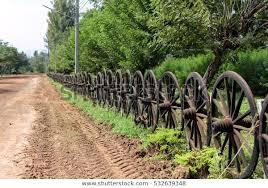 Wagon Wheel Fence Stock Photo Edit Now 532639348
