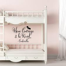 Girls Room Wall Decal Cinderella Quote Have Courage And Be Kind Wall Stickers For Living Room Bedroom Home Decoration Damask Wall Decals Decal Art From Onlybrand 8 53 Dhgate Com