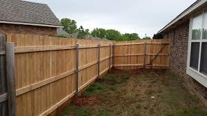 Treated Spruce Or Cedar Fence Fence Okc Oklahoma City Fence Contractor