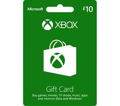 microsoft xbox live gift card 10