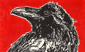 Red Hot Raven Painting by Julia Forsyth
