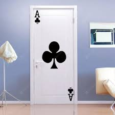 Dsu Ace Of Plum Wall Decal Vinyl Removable Playing Cards Home Decor Sticker For Living Room Sale Price Reviews Gearbest