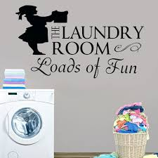 Laundry Room Decal Laundry Room Sign Vinyl Wall Decor Quotes Loads Of Fun Sticker With Woman Silhouette Poster Ly14 Wall Stickers Aliexpress
