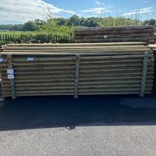 Rail Half Round 3 665m 12ft X 100mm Fencing Timber